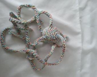 Cotton Cat Toy Thing Handmade Crochet Cat Toy with Organic Catnip