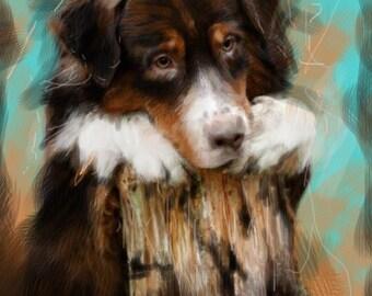 Custom Pet Portrait, Original Oil painting,Dog  painting, Pet painting, unique gift-present.