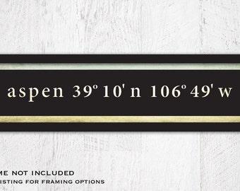 Latitude Longitude Sign, Coordinates Sign, Home Coordinates, Custom Coordinates, Housewarming Gift, 20 x 4.5
