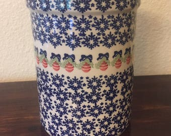 Polish Pottery Kitchen Utensil Holder