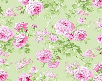 Charlotte-charlotte roses in green by  Tanya Whelan-ONE yard