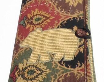 Ursa Major Bear quilted notebook holder