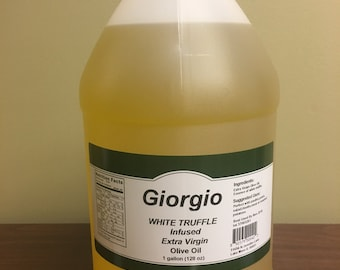 White Truffle Infused Extra Virgin Olive Oil, Bulk 1 Gallon