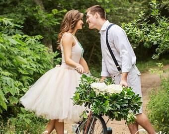 Wedding Dress Bridal Skirt Blush Bridal Skirt Wedding Separates Blush Tutu Skirt Tulle Skirt Wedding Skirt Mid Length Skirt Bridal Tutu