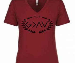 God is greater than the highs and lows Womens T-Shirt