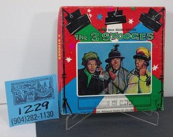 "1960's Columbia Studios Home Movies-3 Stooges ""Pardon my Clutch""-Super 8 film w/Sound"
