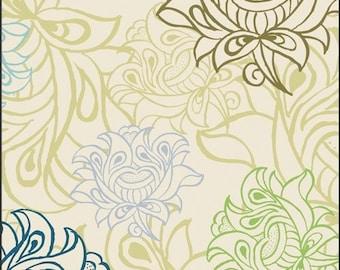 Arabesque Buds Ivory Alhambra II Fabric by Art Gallery One Yard