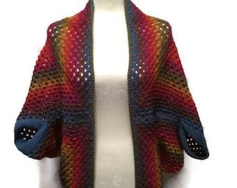 Sweater Blanket, Blanket Sweater, Cocoon, Crochet Sweater, Shrug