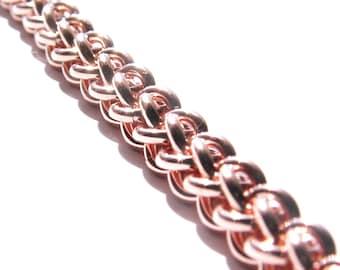 Copper Chainmaille Jens Pind Linkage -JPL3- Bracelet