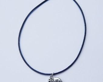 Elephant Choker, Elephant Charm Necklace, Charm Choker, Elephant Necklace, Choker Necklace, Charm Necklace, Leather Choker, Elephant Charm