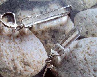 Clear Quartz Earrings Midwife Healer