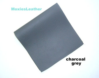Charcoal grey leather piece - crafts scrapbooking jewelery journal purse leather - gray leather - gray skins - genuine gray hides