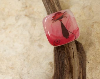 little red headed cat ring