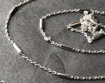 Solid Sterling Silver Chain dainty bar link sold by the foot