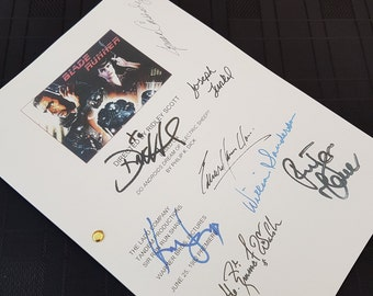 Blade Runner Film Movie Script with Signatures / Autographs Reprint Unique Gift Present TV Fan Geek Harrison Ford 80s 90s Screenplay