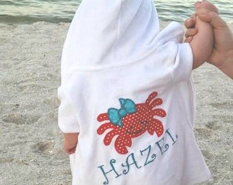 Personalized Baby Beach Cover-Up