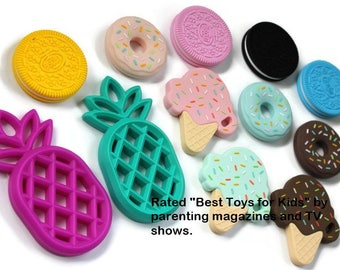 silicone teether pendant for DYI, WHOLESALE TEETHERS, dyi teething, teether, pretend food, toddler learning, play food, toys, pendant