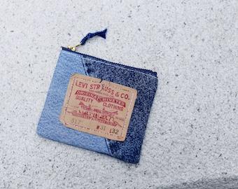 Vintage Denim Remade Coins Bag