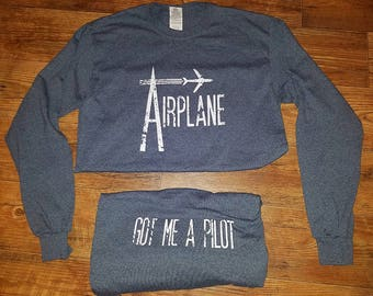 Airplane Grey Long Sleeve Widespread Panic Lot Shirt