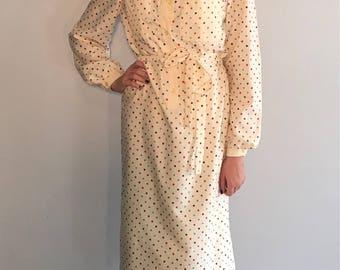 Vintage 70's Secretary Shirt Dress