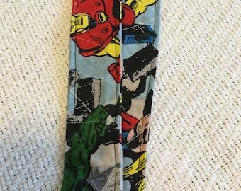 Superhero fabric lanyard