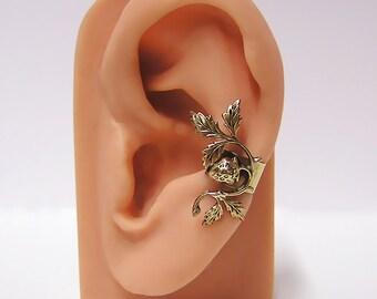 Strawberry on a Vine Ear Cuff (br)