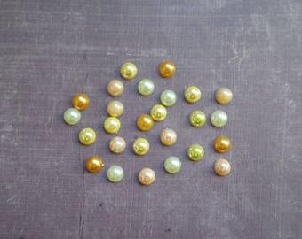 160 half bead 8 mm yellow shade