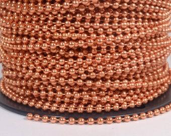 5 Feet 4.5mm Ball Chain - 100% Copper