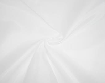 Fabric white 100% polyester lining - price by the yard