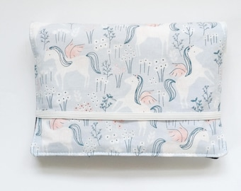 Crayon Wallet // Unicorns Ice by Dear Stella