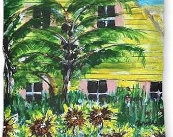 """Item #51 Bahama House - Pillow (12"""" x 16"""")"""