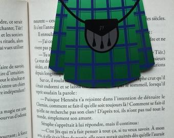 Kilt / / 1 magnetic bookmark