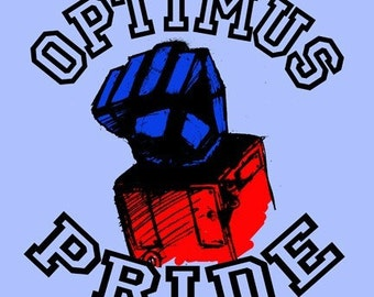 Optimus Pride Adult T Shirt Transformers