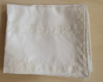 Delicate White Altar Cloth - cotton lace, sacred space, pagan tools