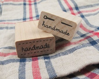 Handmade Label Rubber Stamp