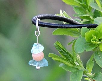 Handmade jewelry healing crystal stone necklace blue stone pendant genuine blue apatite jewelry handmade pendant natural stone necklace awin