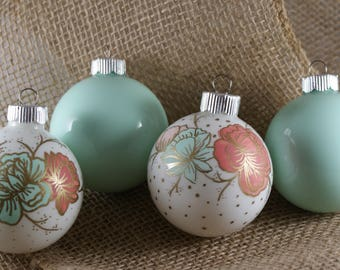 Hand Painted Flower Ornaments