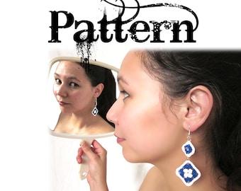 Crochet Earring Pattern - Granny Square Dangles