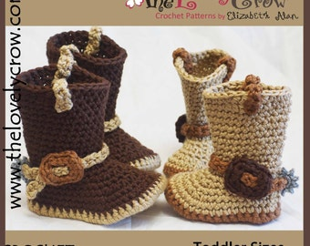 Toddler Crochet Pattern Cowboy Boots