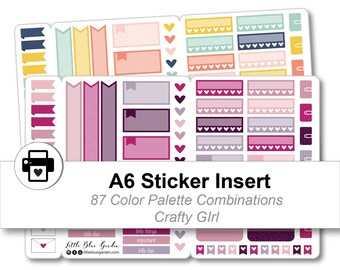 A6 Traveler's Notebook Sticker Kit, Floral Planner Stickers Printable, Sticker Book for Planner, Decorative Planner sticker, Planner Insert