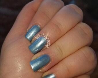 Blue Dawn- Blue Nail Polish - Nail Polish  - 7 Free - Indie Polish - Nail Lacquer