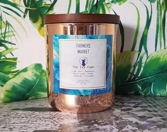 Farmers Market | Handmade soy wax candle coffee scented