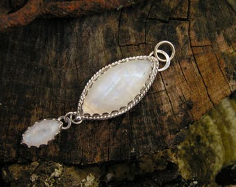 Moonstone Sterling Silver Pendant with Natural Moonstone