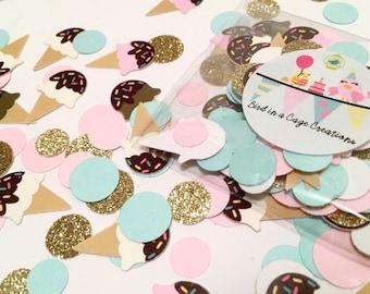 Ice Cream Party Confetti - 275 pieces | Ice Cream Theme | Ice Cream Social | Summer Party Decor
