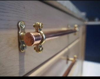 Bespoke copper handles