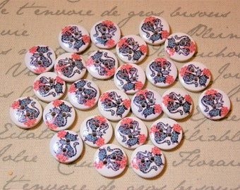 Cute cat buttons for crafting supplies scrapbooking scrap booking crafts sewing supplies scrapbooks scrap books kids craft projects cats