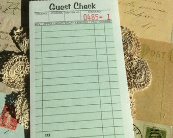 Guest Check journaling cards.