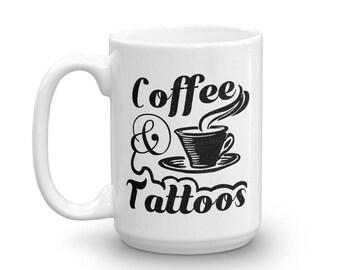 Café et tatouages une tasse de café / café Mug / tasse à café de tatouage
