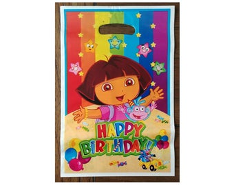 10pc. Dora Birthday Loot Candy Treat Bags ~ Party Favors Supplies