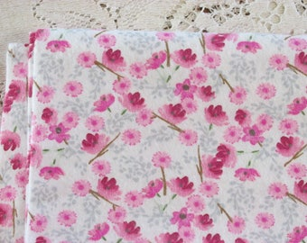 Extra-Large Receiving Blanket - Woodland Floral - Floral Bouquet - Pink & Gray - Baby Girl Blanket - Baby Gift